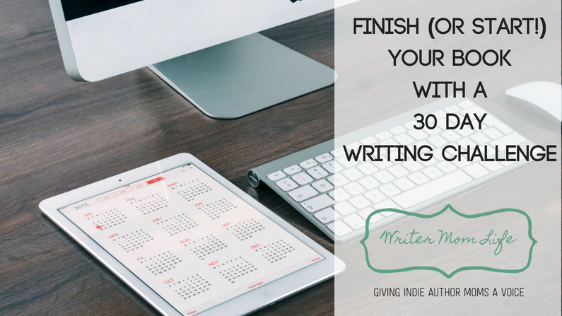 Finish your book with a 30-day challenge